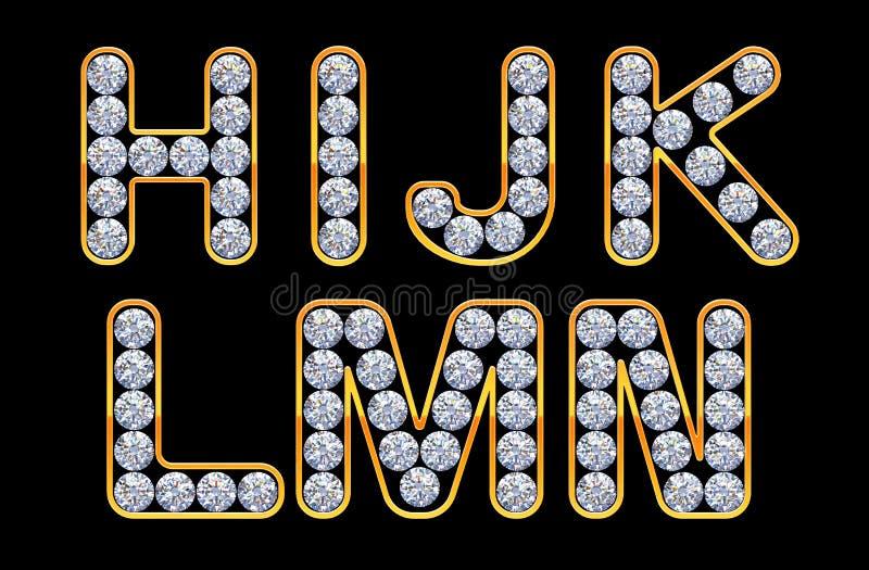 H - N-Zeichen incrusted mit Diamanten. lizenzfreie abbildung