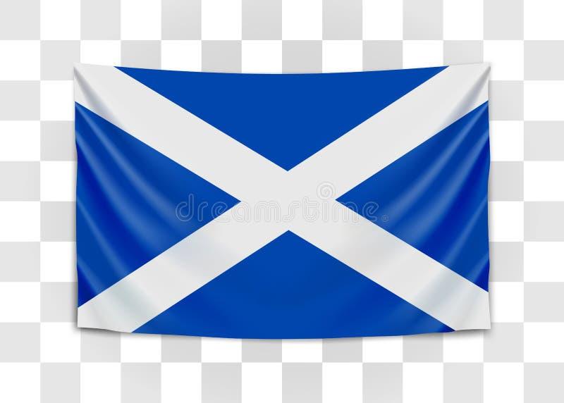 H?ngande flagga av Skottland scotland Nationsflaggabegrepp vektor illustrationer