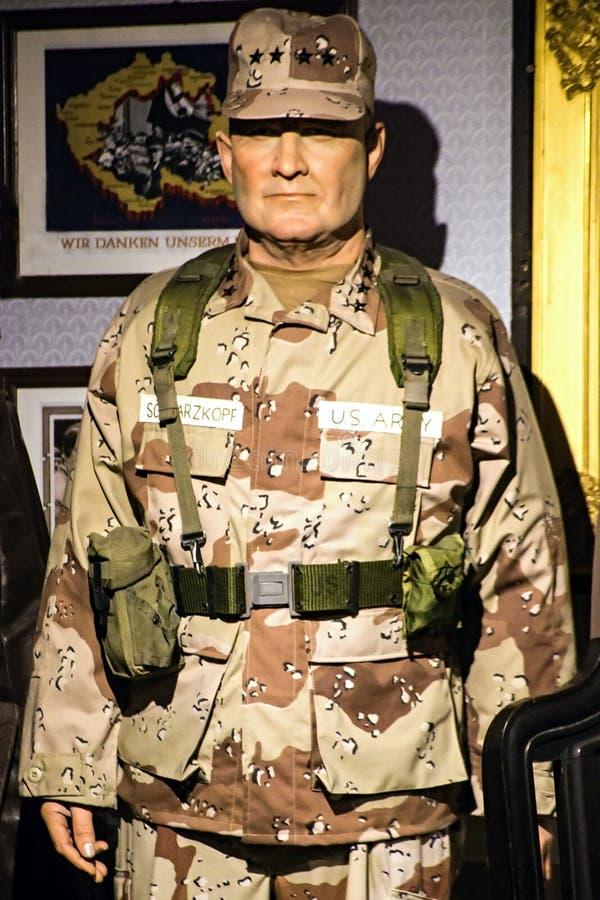 H Norman Schwarzkopf, JR - Général d'armée d'Etats-Unis images libres de droits