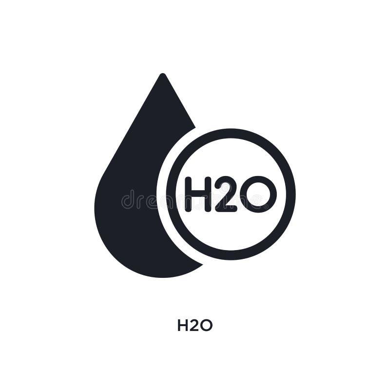 h2o隔绝了象 从科学概念象的简单的元素例证 在白色的h2o编辑可能的商标标志标志设计 库存例证