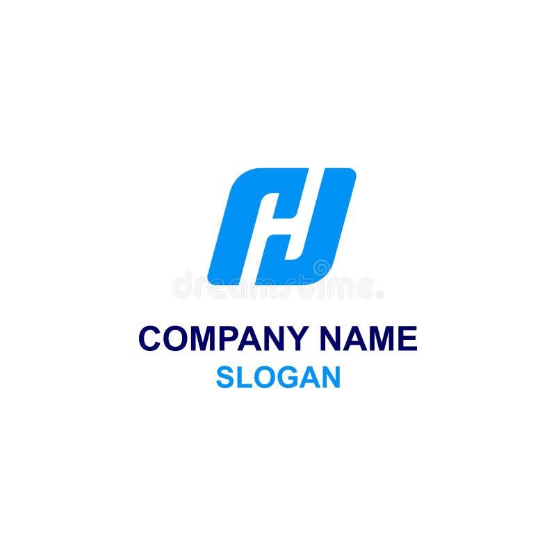 H o logotipo de la inicial de la letra de RJ ilustración del vector