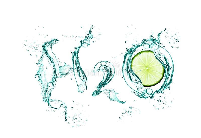 H2o med limefrukt royaltyfri bild