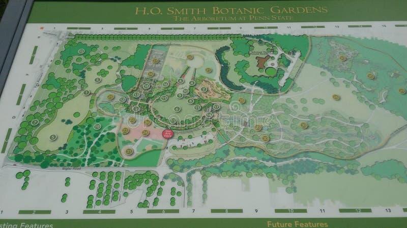 H O Smith Botanic Gardens Arboretum em Penn State fotos de stock
