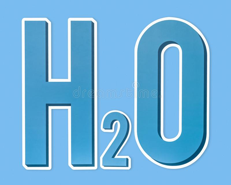 H2O water chemical formula icon stock image