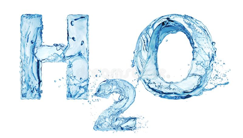 H2O waterbrieven stock illustratie
