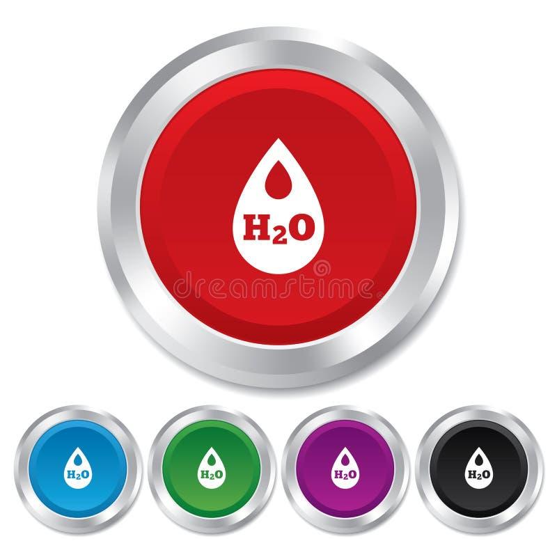 H2O wody kropli znaka ikona. Łza symbol. ilustracji