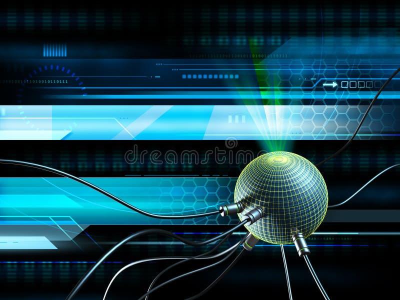hög bakgrund - teknologi royaltyfri illustrationer