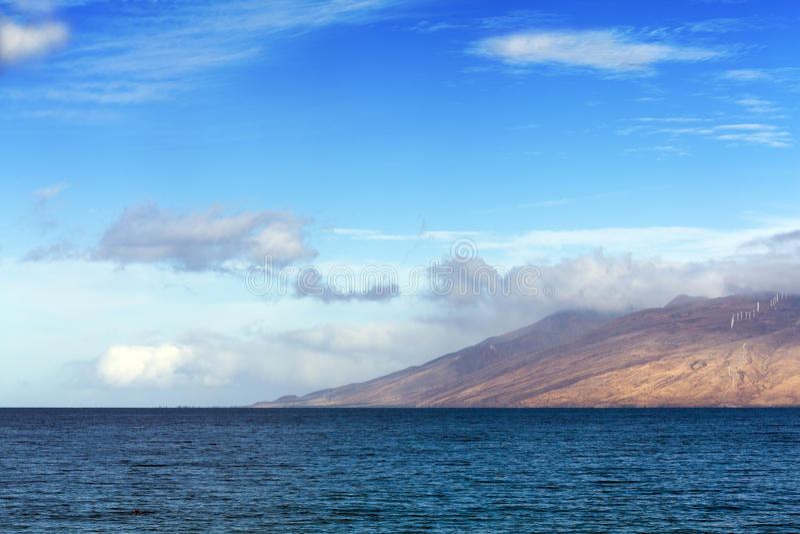 hög västra maui vulkan royaltyfri bild