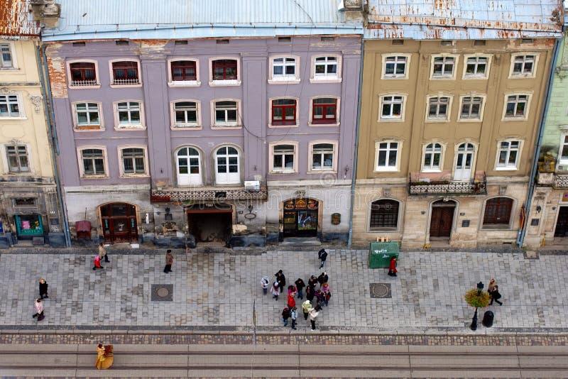 höst lviv ukraine royaltyfria foton