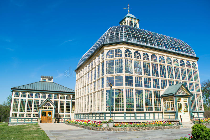 H.P. Rawlings Conservatory and Botanic Gardens in Druid Hill Par stock images