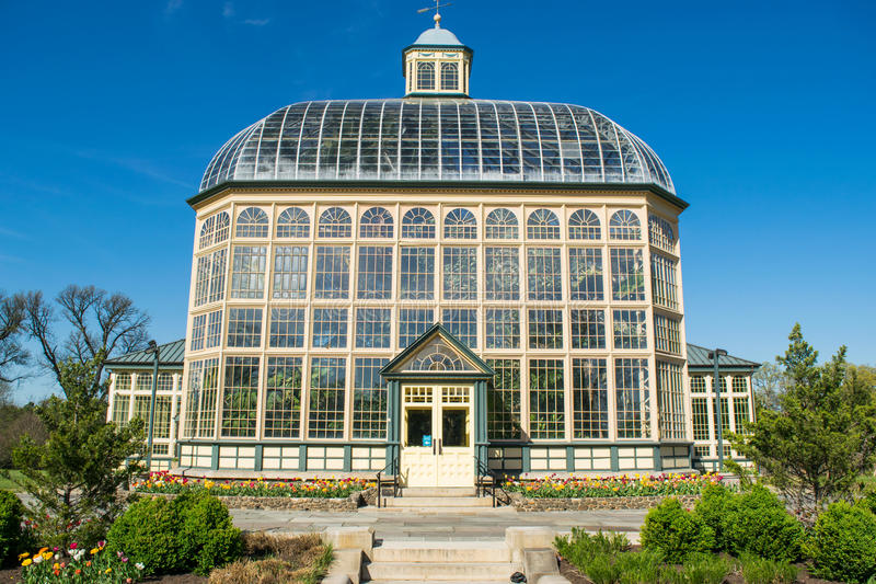 Download H.P. Rawlings Conservatory And Botanic Gardens In Druid Hill Par  Stock Image   Image Of