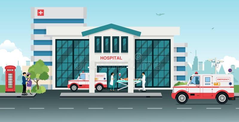 Hôpital illustration libre de droits