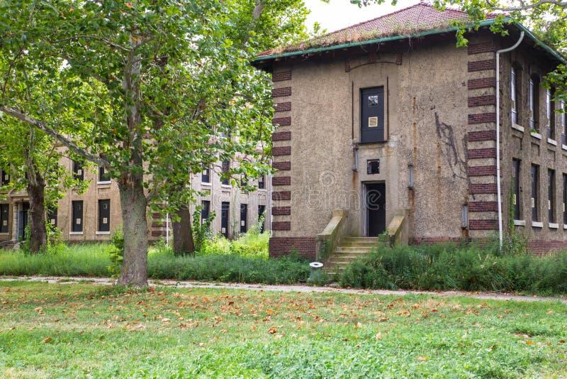 Hôpital abandonné Ellis Island images stock