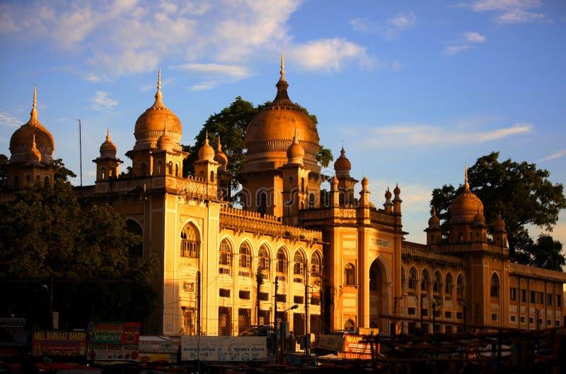 Hôpital historique de Nizamia dans l'Inde images libres de droits