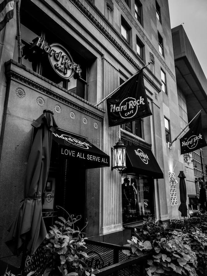h?rd rock f?r cafe arkivbilder