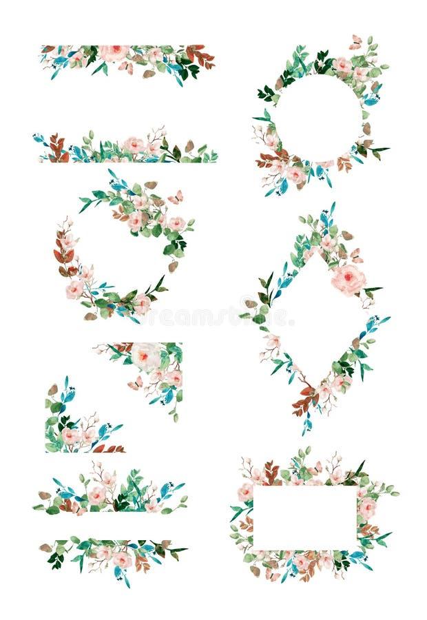 h?rlig blom- ramillustrationvektor vektor illustrationer