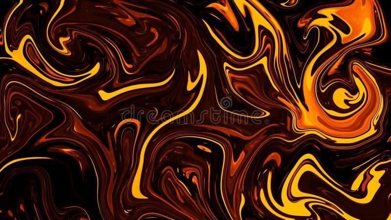 H?rlig flytande marmorerar bakgrund Texturera s?ml?s bakgrund Abstrakt vätskeeffektfärgmodell royaltyfri illustrationer