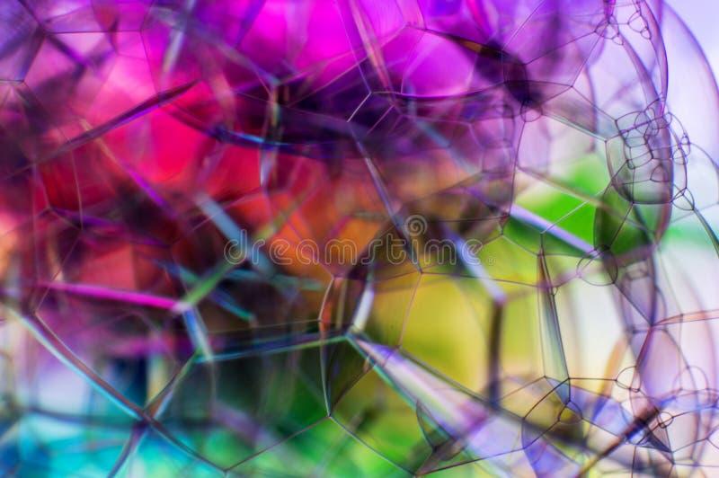 H?rlig mjuk abstrakt bakgrund av s?pbubblor royaltyfri foto
