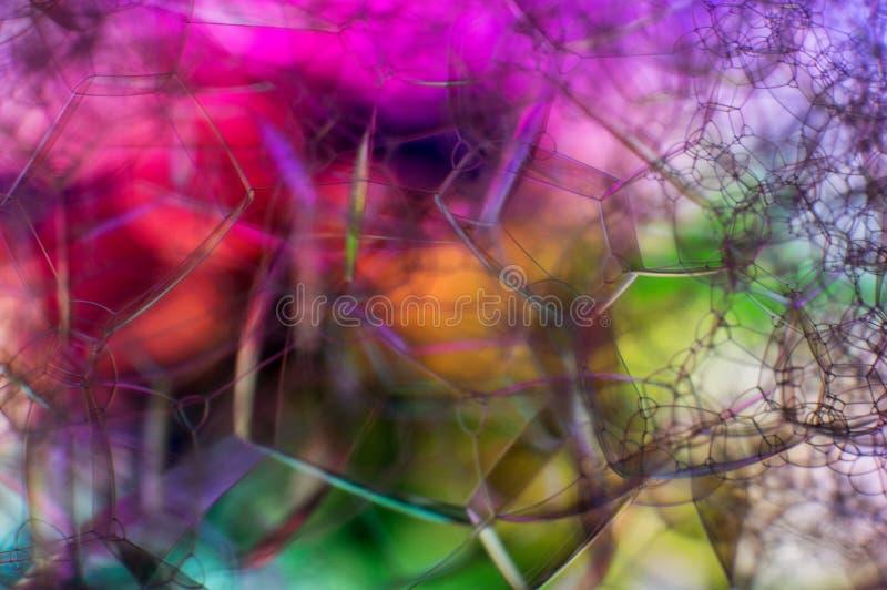 H?rlig mjuk abstrakt bakgrund av s?pbubblor royaltyfri bild