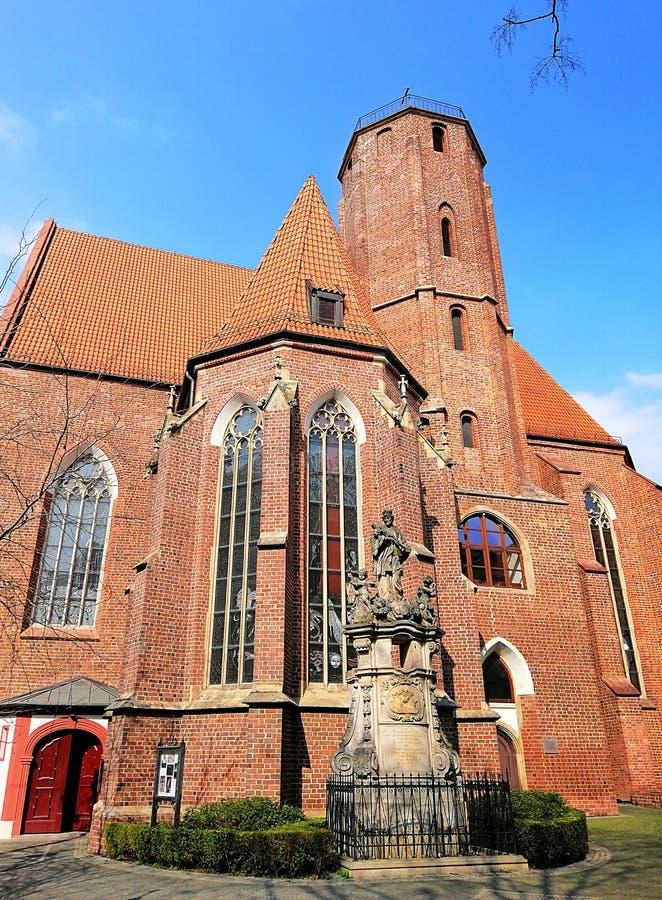 H?rlig stad av Wroc? ?aw, Silesia, Polen royaltyfri fotografi