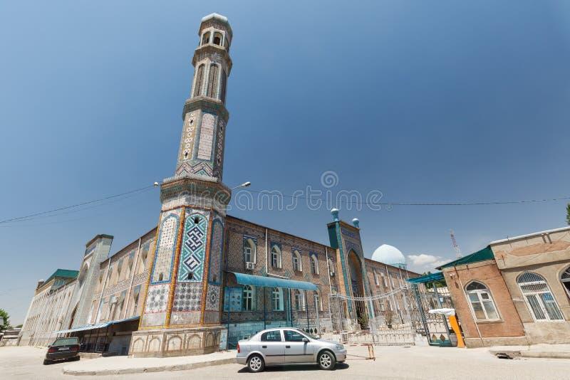 H?rliga Haji Yaqub Mosque i Dushanbe arkivbilder