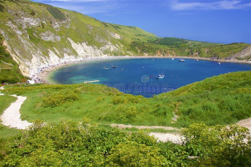 H?rliga str?nder av Dorset, UK fotografering för bildbyråer