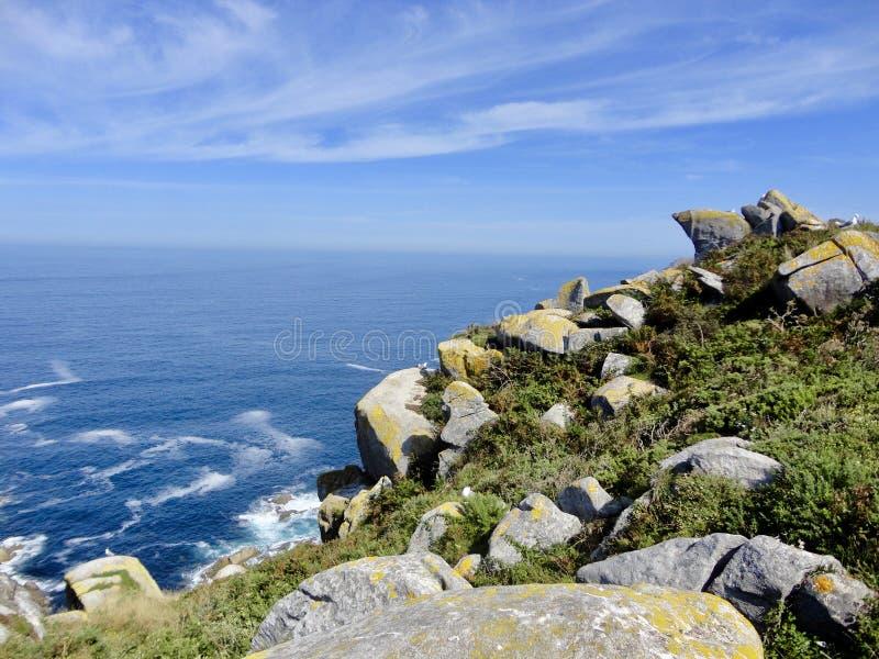H?rligt landskap av Atlanticet Ocean royaltyfri bild