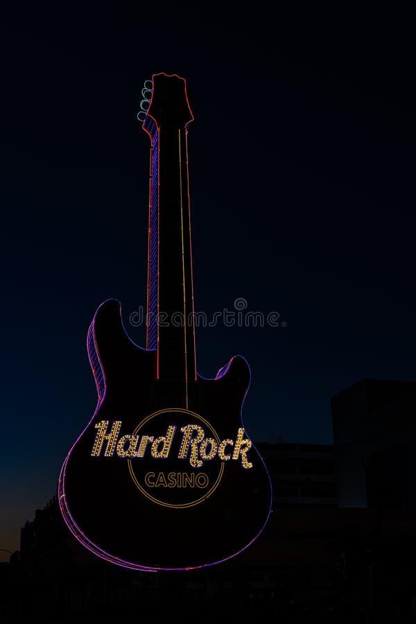 H?rt vagga gitarren arkivbilder