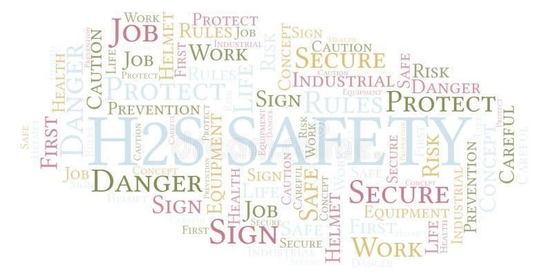 H2s de wolk van het Veiligheidswoord vector illustratie
