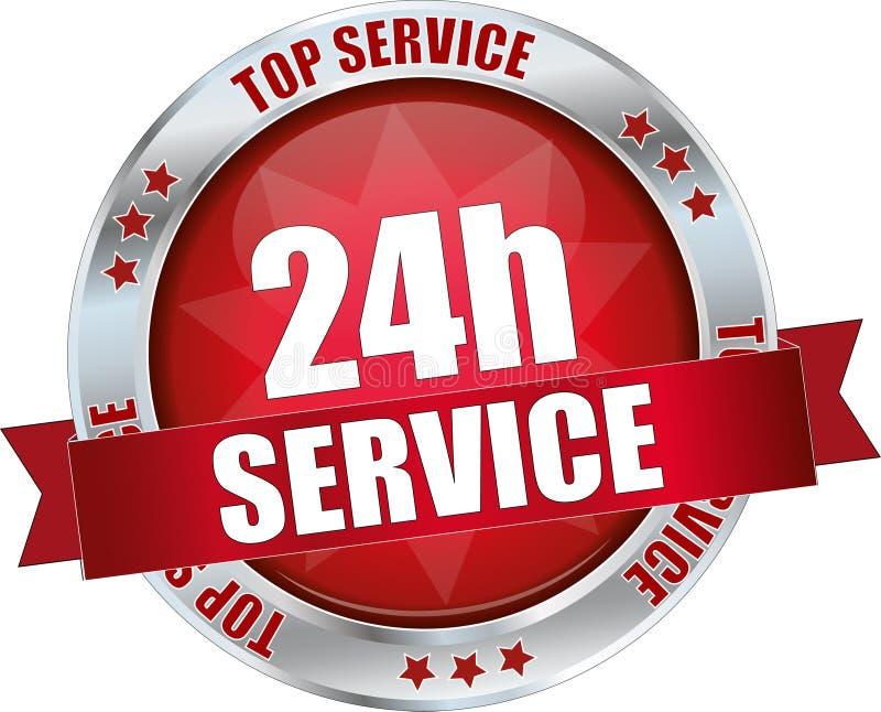 24h service vector illustration