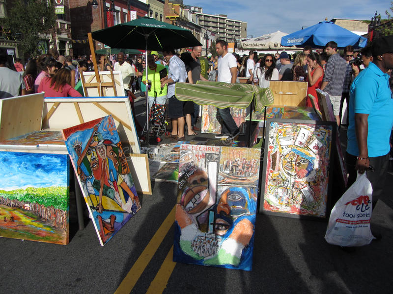 Download H Street Art Exhibit editorial stock image. Image of street - 26645179