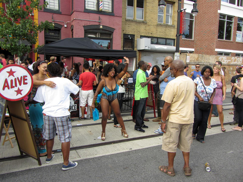 Download H Street in September editorial photo. Image of festival - 26644821