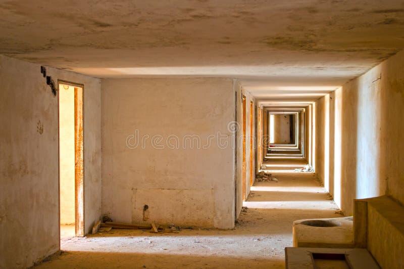 Hôtel abandonné images libres de droits