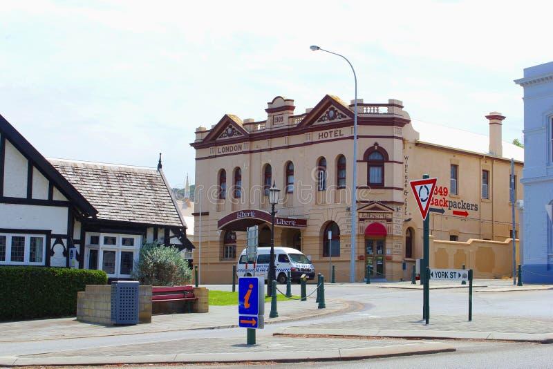 Hôtel antique de Londres dans la ville d'Albany, Australie occidentale photographie stock libre de droits