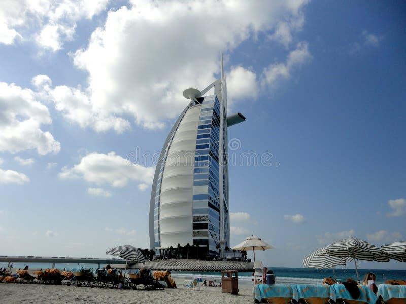 Hôtel arabe d'Al de Burj à Dubaï images stock