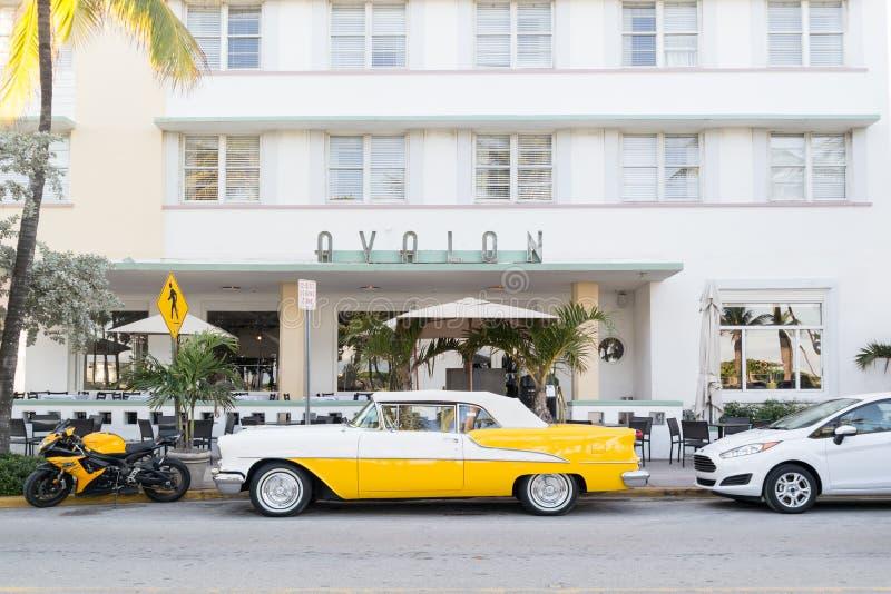 Hôtel Avalon d'art déco dans Miami Beach, la Floride images stock