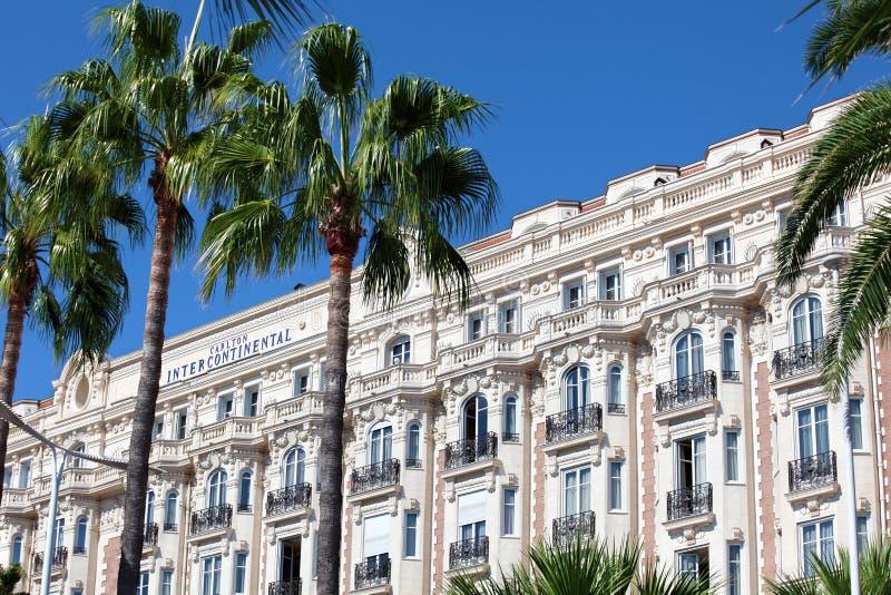 Hôtel célèbre de Carlton Intercontinental à Cannes, France photos stock