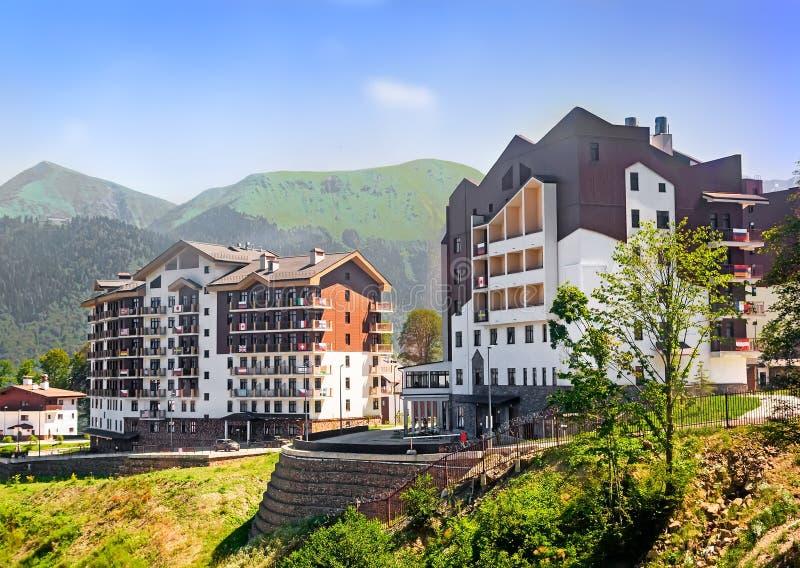 Hôtel confortable dans les montagnes image libre de droits