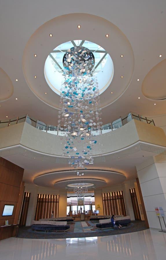Hôtel d'Auberge dans la baie de découverte, île de Lantau, Hong Kong photo stock