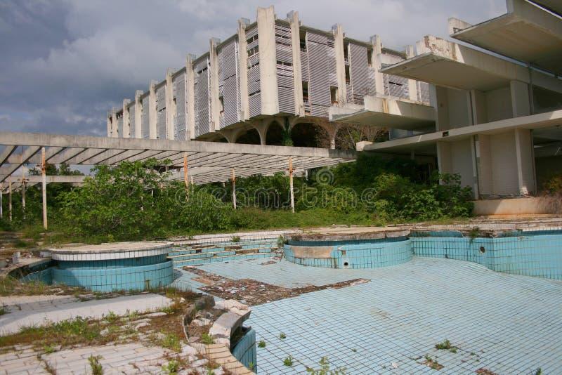 Hôtel de cinq étoiles abandonné image libre de droits
