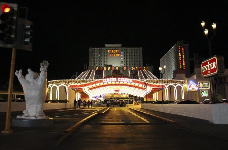 Hôtel de cirque de cirque de Las Vegas images libres de droits