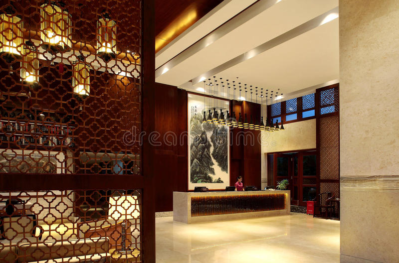 Hôtel de cour de Sanya, mer de la Chine quatre saisons photo stock