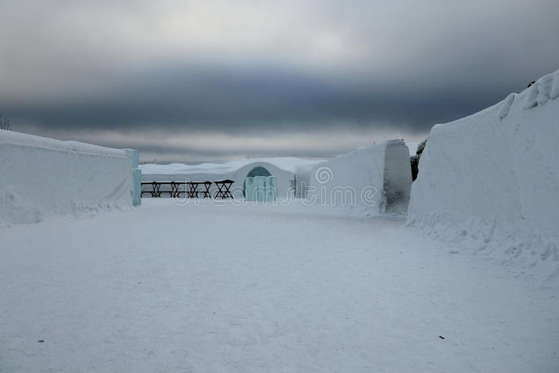 Hôtel de glace photographie stock libre de droits