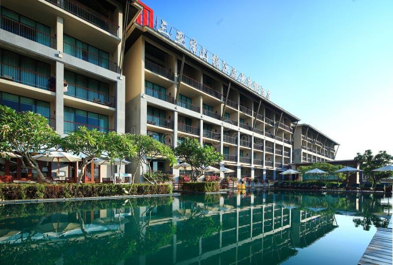 Hôtel de Jinjiang des mi-niveaux de Sanya photographie stock libre de droits
