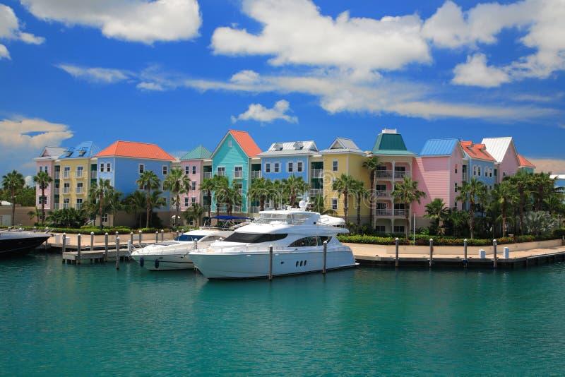 Hôtel de l'Atlantide en Bahamas image libre de droits