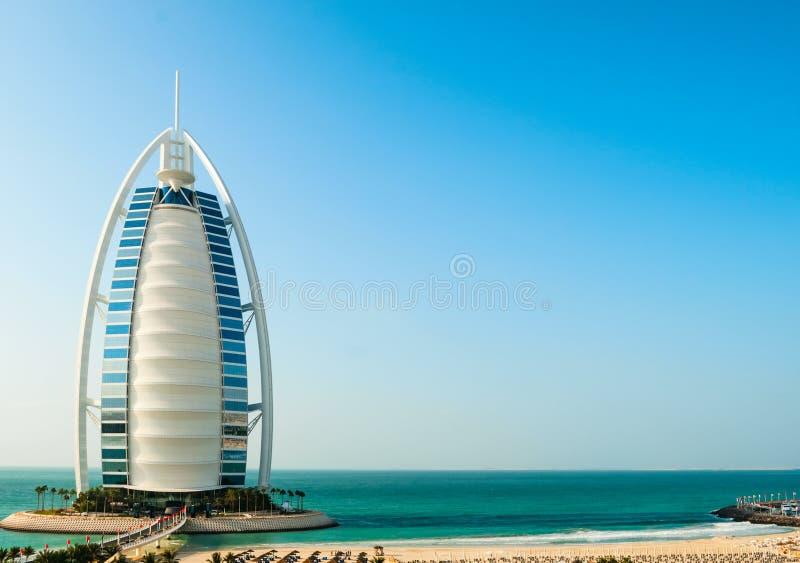 Hôtel de luxe Burj Al Arab Tower des Arabes images libres de droits