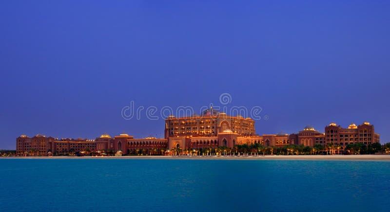 Hôtel de palais d'émirats, l'hôtel le plus exclusif d'Abou Dabi photos stock