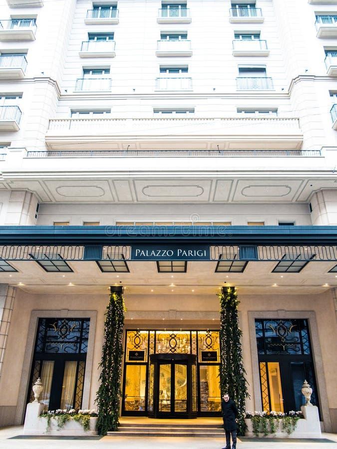 Hôtel De Palazzo Parigi, Milan Photo stock éditorial