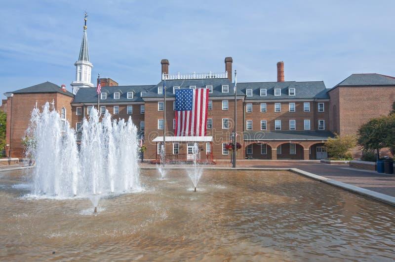 Hôtel de ville à l'Alexandrie, la Virginie photo libre de droits