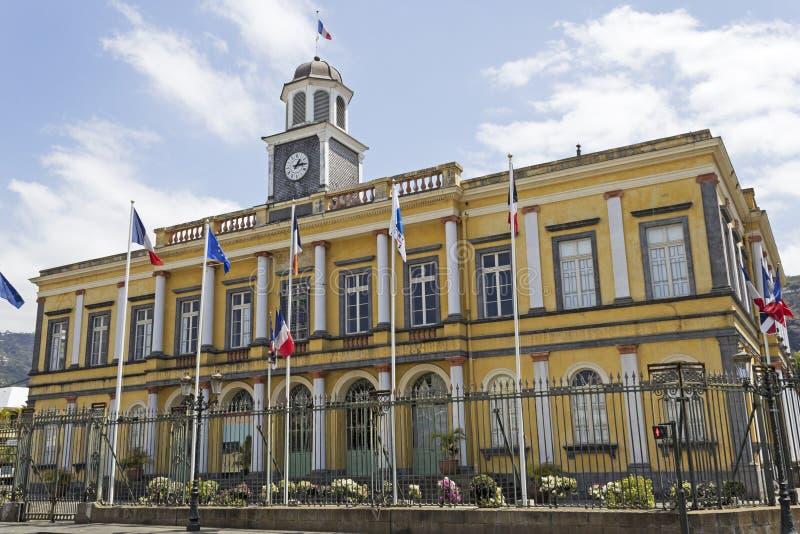Hôtel de ville à St Denis photographie stock